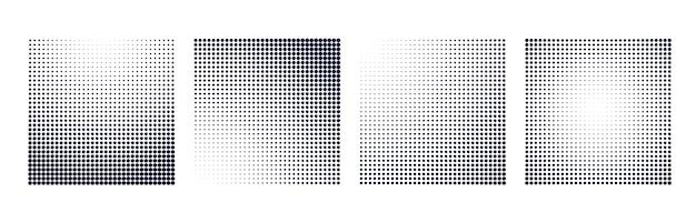 Halftone gradiënt vierkante vorm achtergrondreeks
