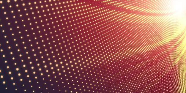 Halftone illustratie met glanzend licht