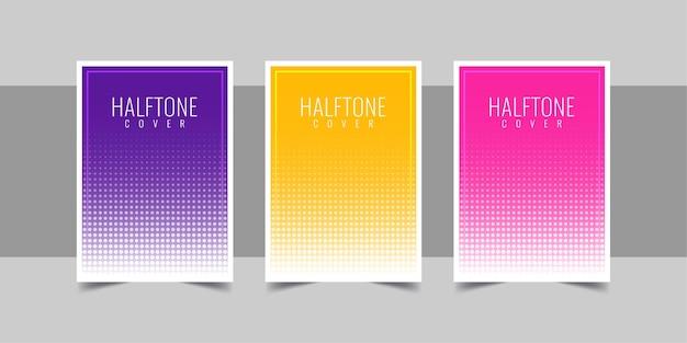 Halftone omslag achtergrond illustratie sjabloonontwerp