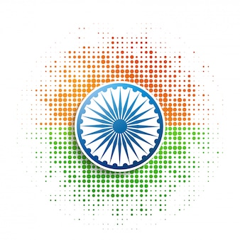Halftone patch indiase vlagstijl