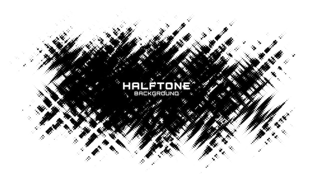 Halftone plek van grunge. zwart-witte cirkel stippen textuur achtergrond. gevlekte vector abstracte textuur.