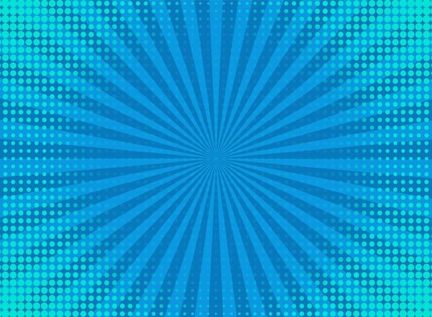 Halftone popart achtergrond. komisch blauw patroon. vector illustratie.