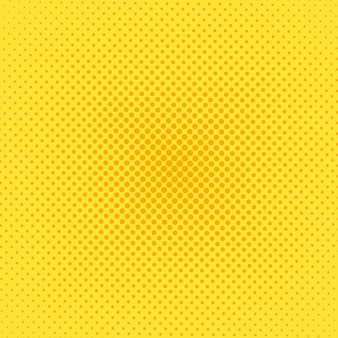 Halftone popart achtergrond. komisch geel patroon. vector illustratie.