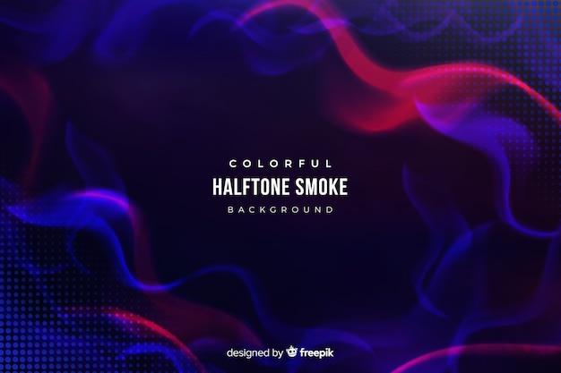 Halftone rook achtergrond