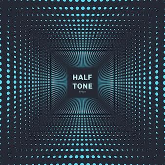 Halftone ruimte van de abstracte blauwe kleur