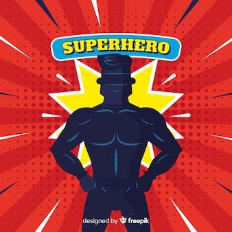 Halftone superheld achtergrond