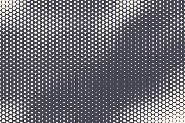 Halftone zeshoekig patroon golvende textuur abstracte geometrische technische achtergrond