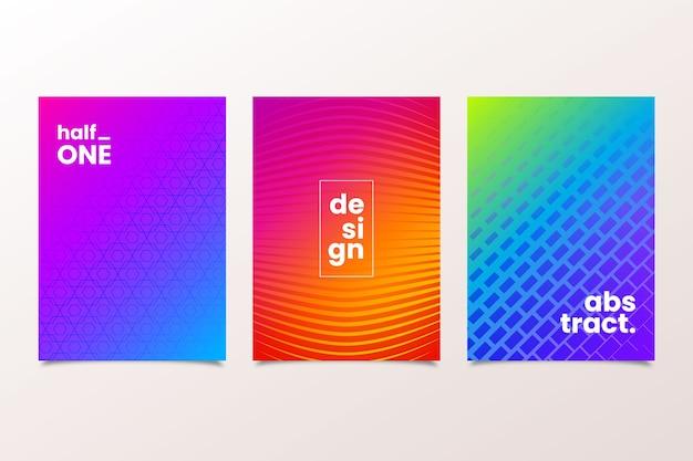 Halftoon cover gradiënt met minimalistisch design