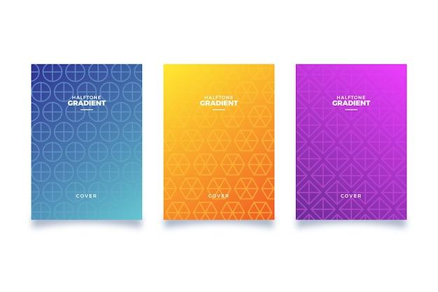 Halftoon gradiënt cover collectie concept