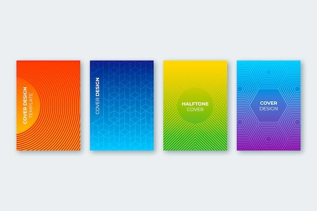 Halftoon gradiënt cover pack