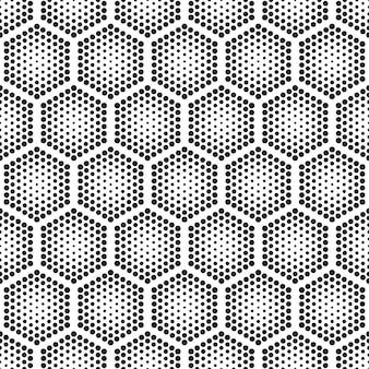 Halftoon tech zeshoeken naadloos patroon