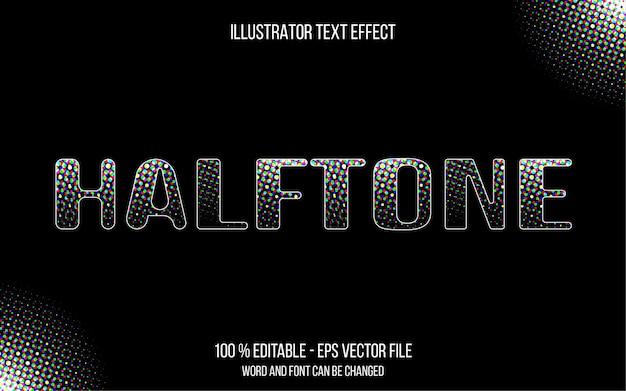 Halftoon teksteffect