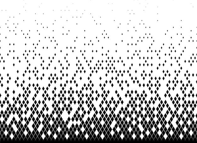 Halftoon vector achtergrond. gevuld met zwarte driehoeken.