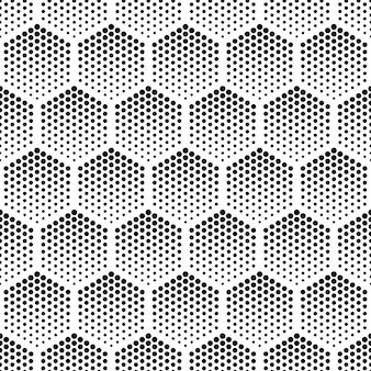 Halftoon zeshoekig vector naadloos patroon