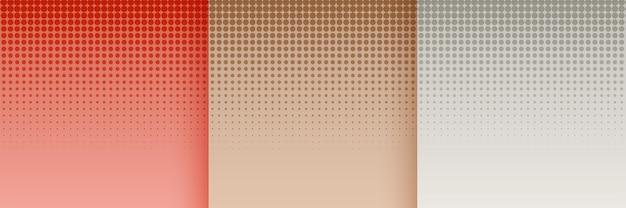 Halftoonbehangset in roodbruine en grijze kleuren