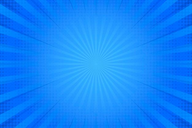 Halftooneffect op blauwe achtergrond