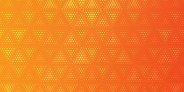 Halftoonpatroon in driehoekige stijlachtergrond