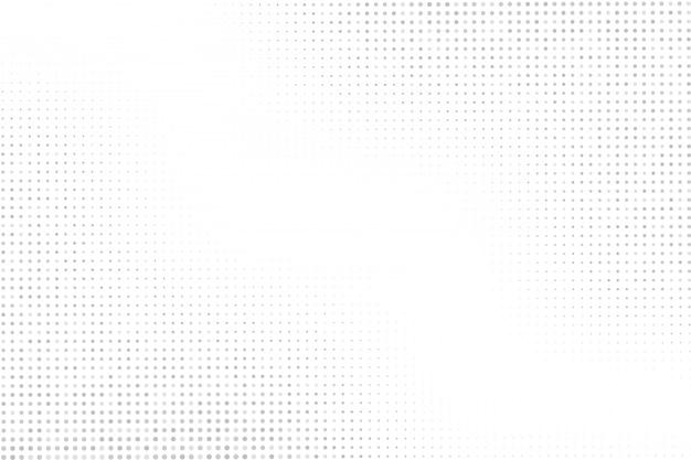 Halftoonpunten op witte achtergrond. grijze stippen halftoon patroon.