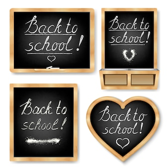 Halk school. het schoolbord
