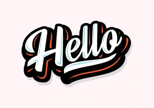 Hallo belettering type