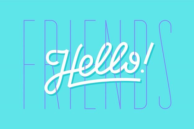 Hallo. belettering voor