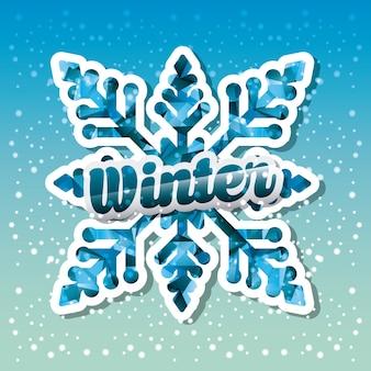Hallo de winterontwerp, vector grafische illustratie eps10