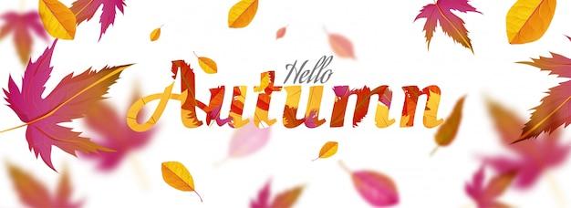 Hallo herfst banner.