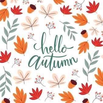 Hallo herfst - belettering