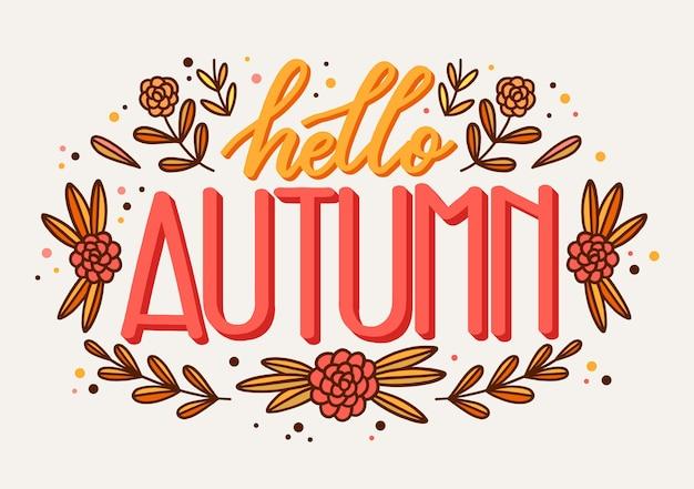 Hallo herfst belettering