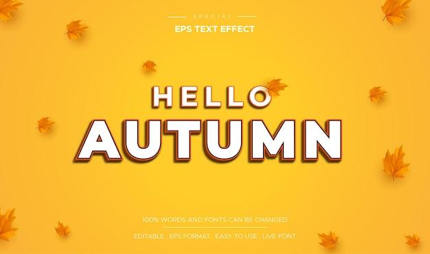 Hallo herfst teksteffect bewerkbaar