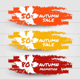 Hallo herfst verkoop promotie collectie banner