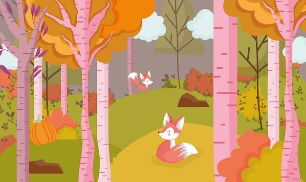 Hallo herfstbladeren seizoen poster