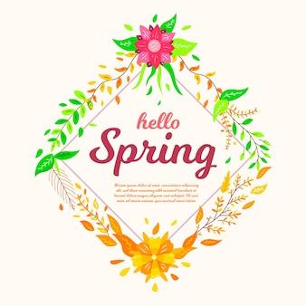 Hallo lente behang met bloemen