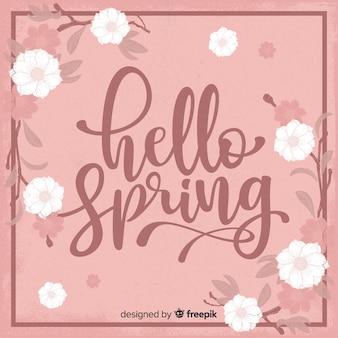 Hallo lente belettering achtergrond