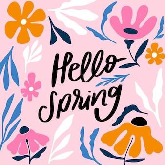 Hallo lente belettering met kleurrijke decoratie