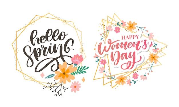 Hallo lente en vrouwendag bloemen