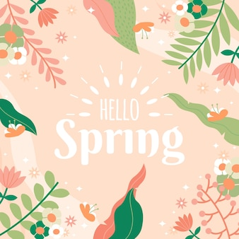 Hallo lente met kleurrijke bladeren