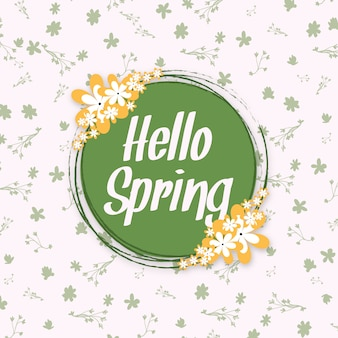 Hallo lente multipurpose floral poster ontwerp achtergrond