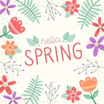 Hallo lente screensaver met bloemen
