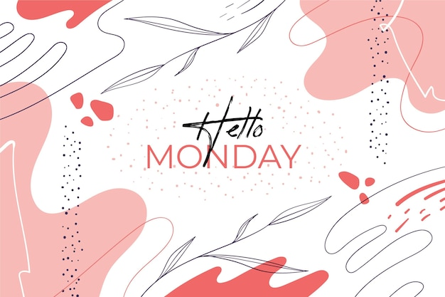 Hallo maandag abstracte achtergrond