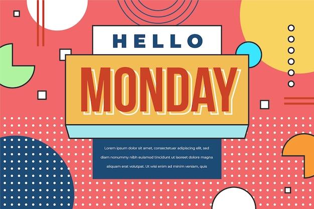 Hallo maandag abstracte sjabloon