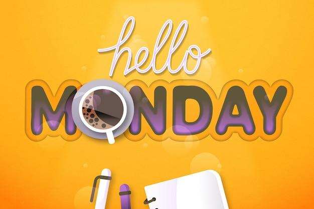 Hallo maandag achtergrond