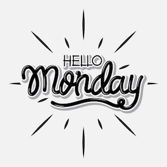 Hallo maandag - belettering