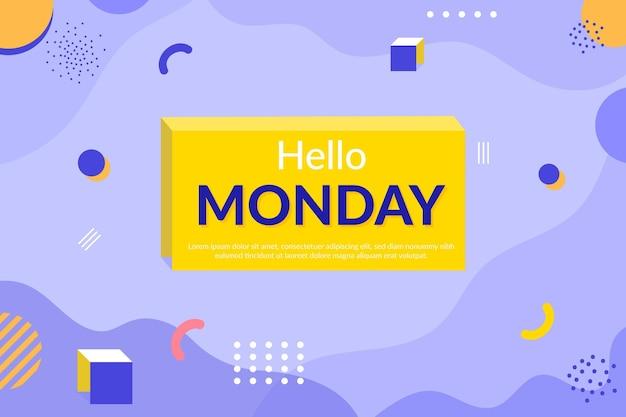 Hallo maandag memphis behang