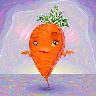 Hallo mijn naam is wortel vector cartoon illustratie