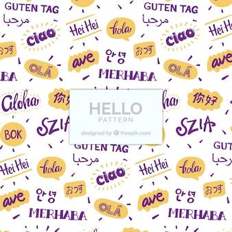 Hallo patroon in verschillende talen