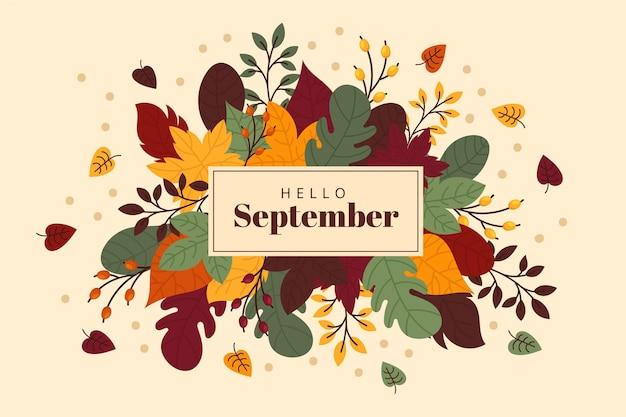 Hallo september achtergrond