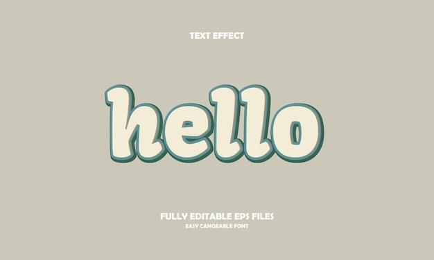 Hallo teksteffect