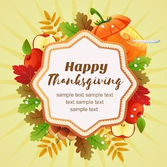 Hallo thanksgiving kleurrijke gebladerte