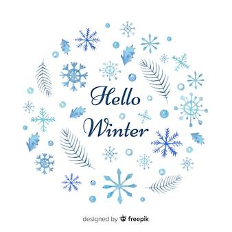 Hallo winter achtergrond